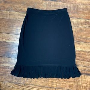 Black Skirt with Ruffled Hem PS by Susan Lawrence